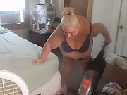Cleaning new house in somthing sexy love showing off