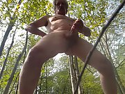 Stroking my cock while enjoying the outdoors