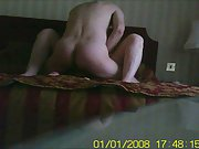 The wife getting screwed in the bedroom quickie sex in the morning