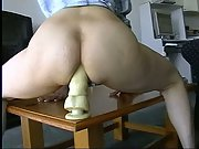 Aussie wife tired but still needing a good arse ram for 8 inch dildo