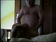 Older mature couple dirty talking oral and doggy style sex