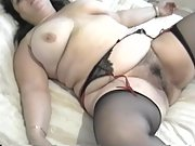 My wife gets her tits out and her pussy