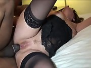 Big tit MILF takes a BBC in her mouth and ass